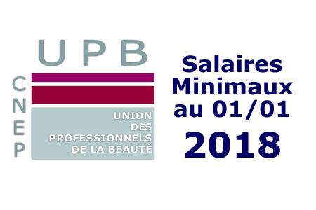Les salaires minimaux au 1er Janvier 2018