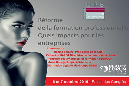 Conférence BeautyForum 2019: Impacts de la réforme de la formation pro