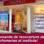 Demande d'ouverture des parfumeries et instituts de beauté