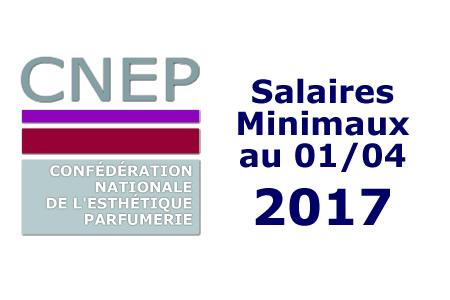 Les salaires minimaux au 1er avril 2017