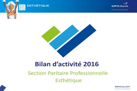 Le Bilan Branche Esthétique 2016