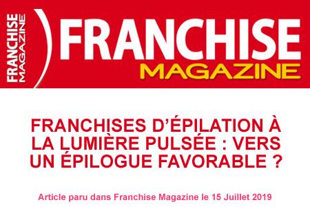 Franchise Magazine: épilation à la lumière pulsée, vers un épilogue favorable?